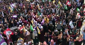Erciş'te HDP'li Adaylara Görkemli Karşılama