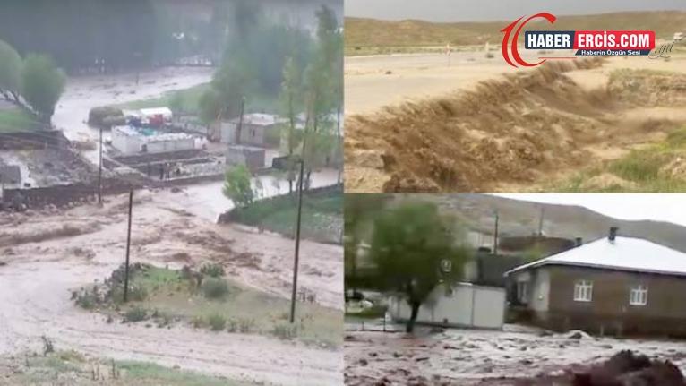 Çatak, İpekyolu ve Başkale'de sel: 2 ağır yaralı, çok sayıda hayvan telef oldu