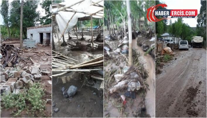 Erciş'te sel: 74 hayvan telef oldu