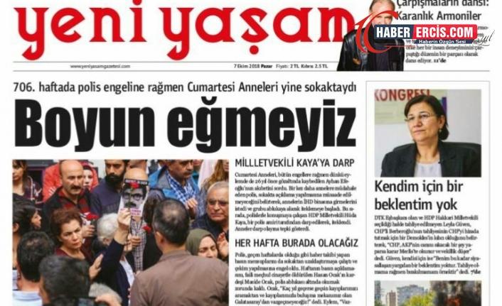 Yeni Yaşam Gazetesi'ne erişim engeli