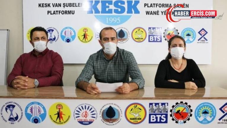 KESK Van Şubesi: Hukuksuzlukların karşısında olmaya devam edeceğiz