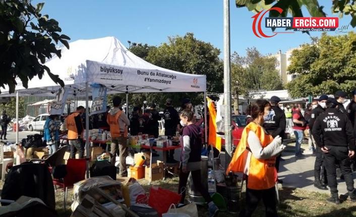 İzmir'de Depremzedelere yardım götüren 9 kişi gözaltına alındı
