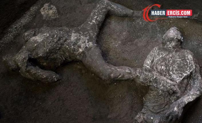 Milattan sonra 79 yılına ait küllerle kaplı insan bedenleri bulundu