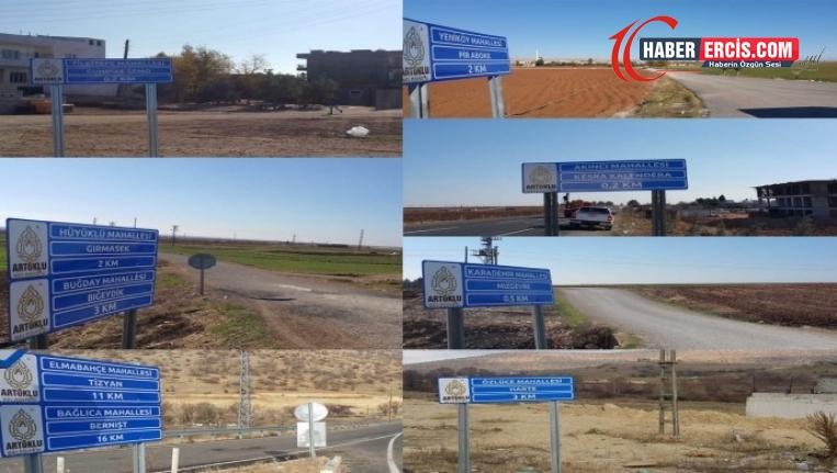 AKP'li Artuklu Belediyesi Kürtçe tabelalardan X, W, Q harflerini kaldırdı