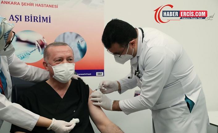 Aşısı yapılan Cumhurbaşkanı Erdoğan'dan açıklama