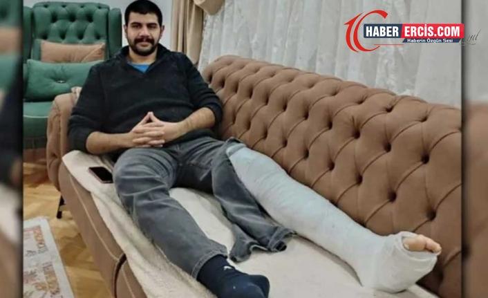 Polis tarafından bacağı kırılan öğrenci için suç duyurusu