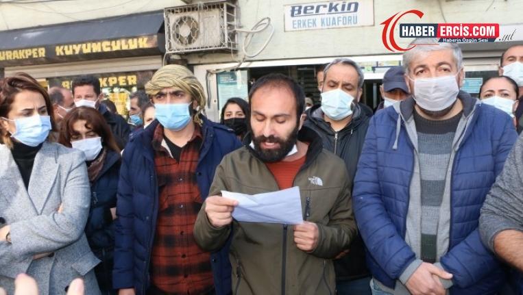 Dersim'de 'valilik yasağı' protesto edildi
