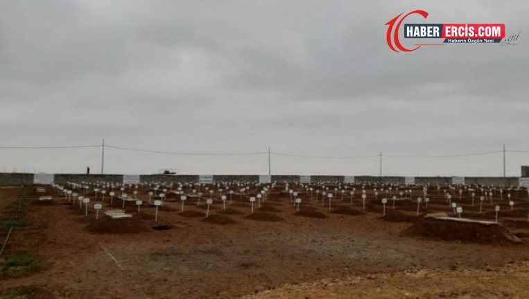 Şengal'deki toplu mezardan çıkarılan 104 cenaze toprağa verildi