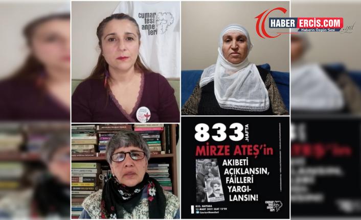 Cumartesi Anneleri gözaltında kaybedilen Mirze Ateş'in akıbetini sordu