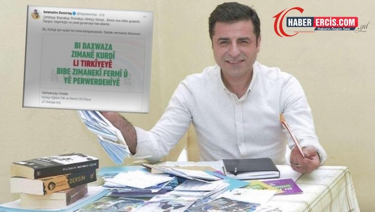 Demirtaş'tan Kürtçe kampamyaya destek çağrısı