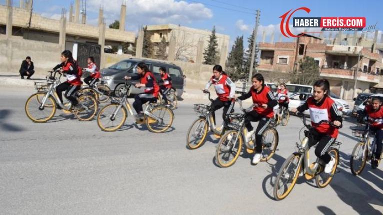 Kobanê'de bisiklet yarışı
