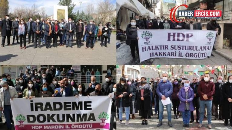 Van ve birçok kentte seslendiler: HDP halktır!