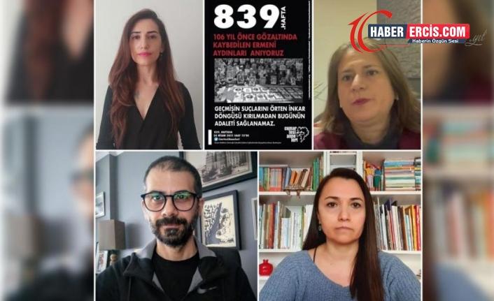Cumartesi Anneleri Ermeni aydınlarının akıbetini sordu