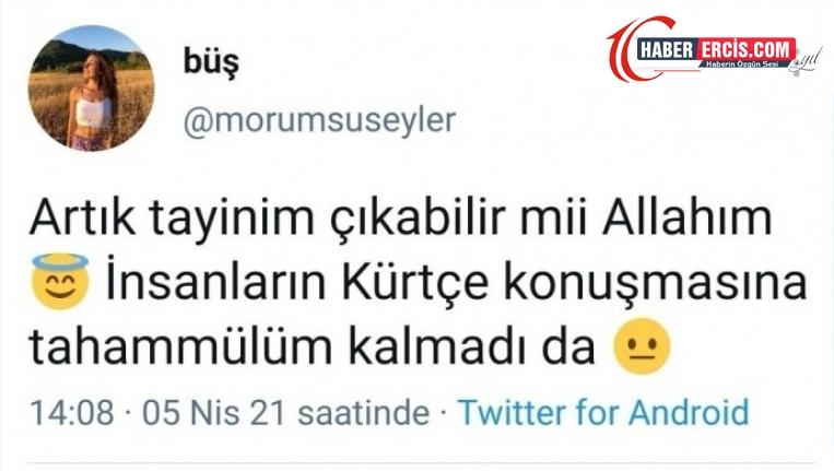 Öğretmenden ırkçı paylaşım: Kürtçe'ye tahammülüm kalmadı