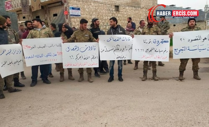 Suriye'de SMO, 'maaşları ödemeyen' Türkiye'yi protesto etti