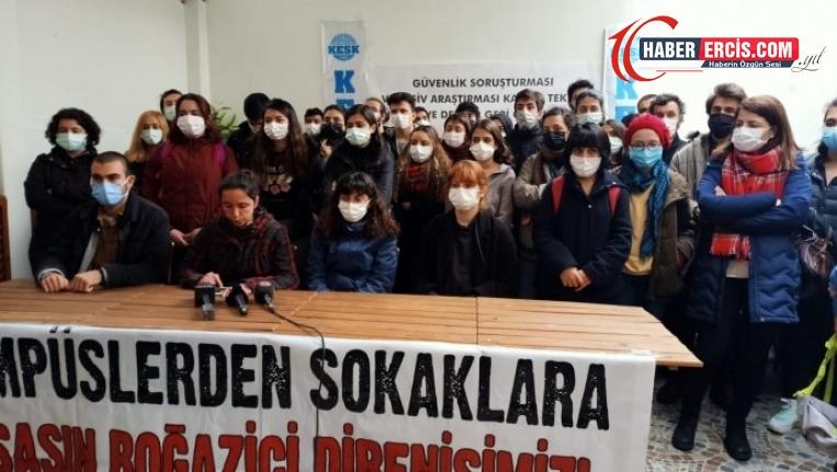 Üniversite öğrencilerinden müdahale protestosu