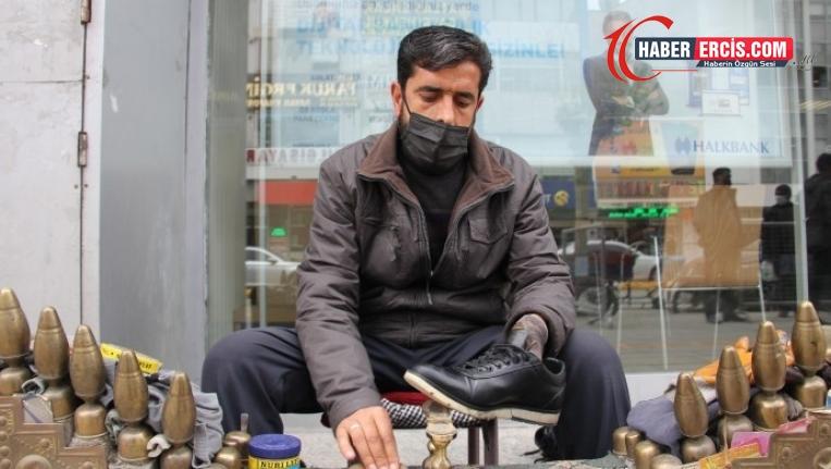 Van'da ayakkabı boyacısı: Kapanma döneminde nasıl geçineceğim?