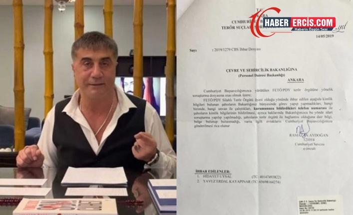 'FETÖ soruşturması örtüldü' diyen Sedat Peker belge paylaştı