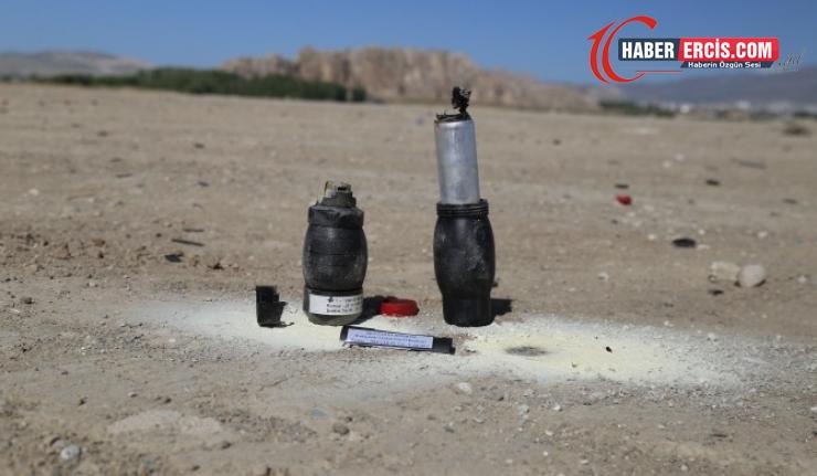 Van Gölü kıyısı gaz bombası talim alanı yapıldı