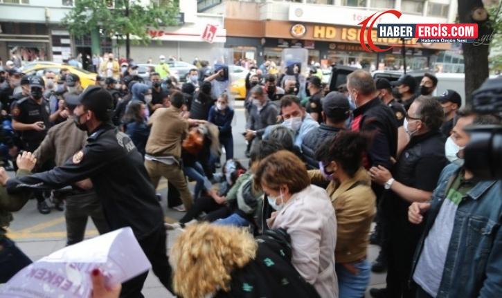 Kadınların açıklamasına polis müdahalesi: Çok sayıda gözaltı
