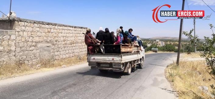 Siviller Rusya'nın bombaladığı İdlib'in güneyinden kaçıyor