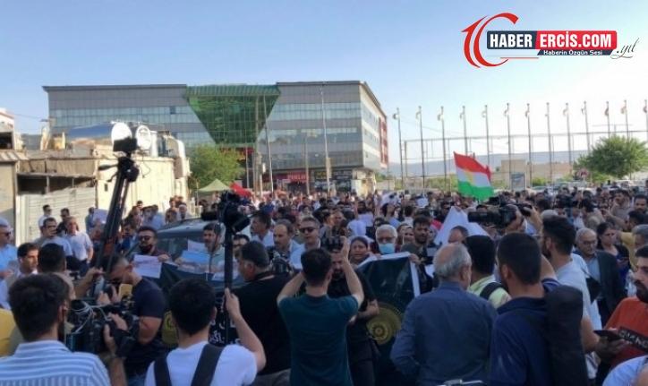 Süleymaniye'de TSK'nin sınır ötesi operasyonu protesto edildi