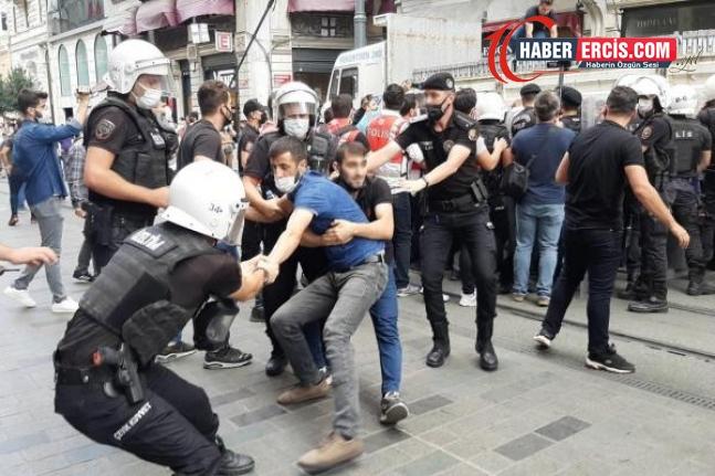 """İstanbul'da """"barışa"""" yasak sürüyor: Barış mitinginin yasaklanmasını protesto açıklamasında 47 kişi gözaltın alındı"""