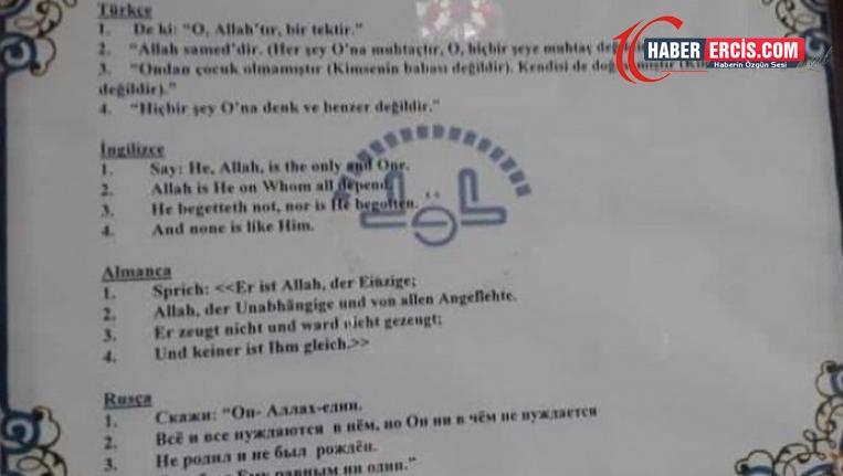 Kürtçe ayet meali cami tabelasından silindi