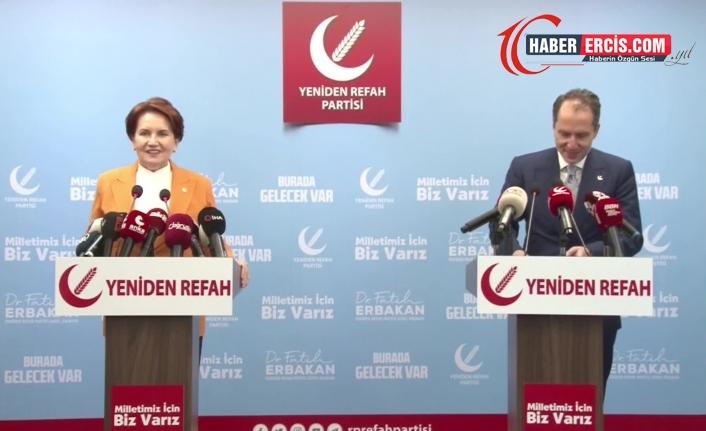 Akşener, Fatih Erbakan'ı bugün Yeniden Refah Partisi Genel Merkezi'nde ziyaret etti
