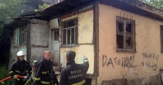 Bolu'da Ev Yangını