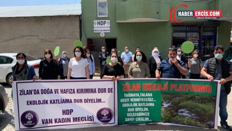 Erciş'te Zilan Deresi'ndeki HES yapımı protesto edildi: 'HES'le halkın hafızası yok ediliyor'