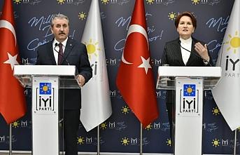 Meral Akşener, Büyük Birlik Partisi (BBP) Genel Başkanı Mustafa Destici ile görüştü
