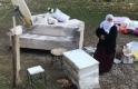 Erciş'te Bir Eve Atılan Gaz Bombası Yangına Sebep Oldu