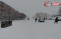 Erciş'te yoğun kar yağışı