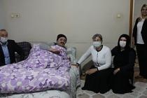 Leyla Güven Van'da helikopterden atılan Şiban'ı ziyaret etti