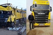 Ercişli Tır şoförü trafik kazasında hayatını kaybetti