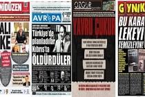 Kutlu Adalı cinayeti Kıbrıs gazeteleri manşetinde