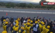 Maden işçileri bir kez daha engellendi