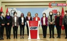 CHP'li kadınlar İstanbul Sözleşmesi'nden çekilme kararını tanımıyoruz