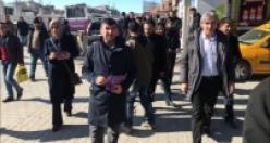 Erciş'te Kongreye katılım için bildiri dağıtıldı