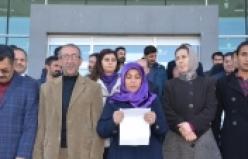 Eş Başkan DİBA KESKİN ve diğer siyasilerin tutuklanmaları 7'ci haftasında protesto edildi