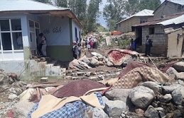 HDP Erciş ilçe örgütü selden zarar gören mahalleleri...