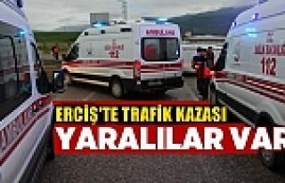Erciş'te meydana gelen trafik kazasında : 6 kişi...