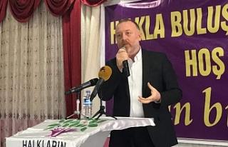 Erciş'te konuşan Temelli: Adalet için bu iktidar...