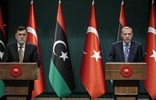 Erdoğan ve Sarrac'dan ortak basın toplantısı