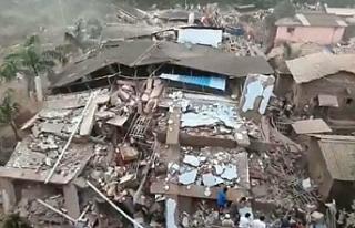 Hindistan'da bina çöktü: 90 kişi enkaz altında