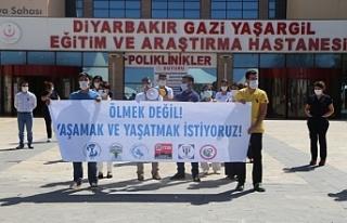 Diyarbakır'da Kovid-19'a yakalanan sağlıkçıların...