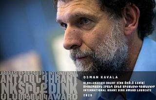 Hrant Dink ödüllerine Kavala ve Hassan layık görüldü