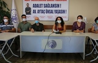 Hukuk ve sağlık örgütlerinden Ünsal'ı yaşatma...