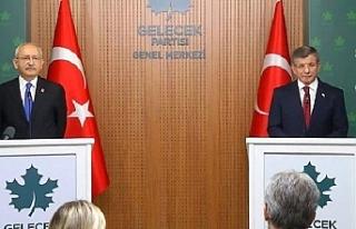Kılıçdaroğlu ve Davutoğlu bir araya geldi